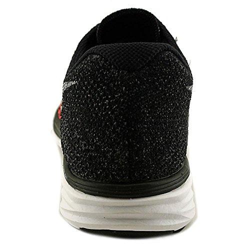 Nike Damen Flyknit Lunar3 Laufschuhe Schwarz / Weiß-heißes Lavavolt
