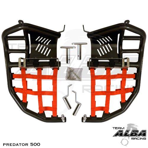 Polaris Predator 500 (2003-2007) Propeg Nerf Bar Black Bars w/Red Net