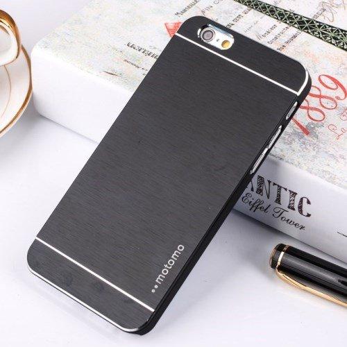 "Apple iPhone 6 4.7"" Motomo Metall Hard Case Aluminium Cover Brushed Schwarz"
