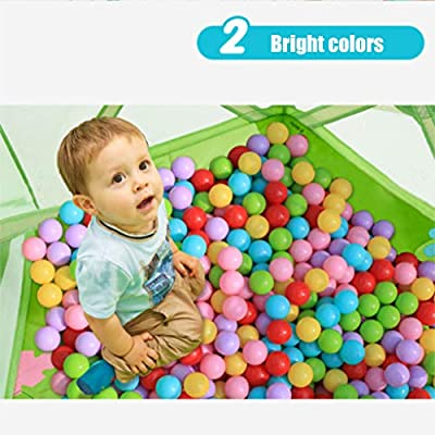 LDAOS Safety Protection Baby Ball Pool,Durable Baby Bath Swimming Pool Folding GG-45I1 Ball Pit Pool Fun Backyard Toy: Home & Kitchen