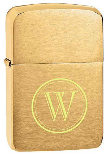 Personalized Zippo Brushed Brass 1941 Replica Lighter with free initial engraving