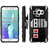 Samsung Galaxy S6 EDGE PLUS 5.7″ G928 Phone Cover, NES Video Game Controller- Blitz Hybrid Armor Phone Case for [Samsung Galaxy S6 EDGE PLUS 5.7″ G928] with [Kickstand and Holster] by Mobiflare Review