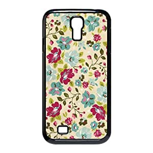 Retro Floral Series Custom Cover Case for SamSung Galaxy S4 I9500,diy phone case ygtg597750 by supermalls