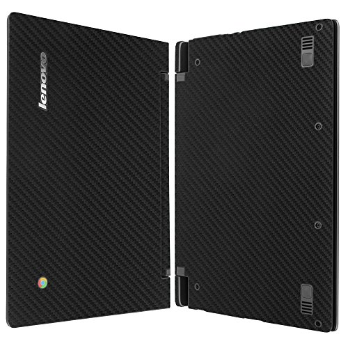 Skinomi TechSkin - Lenovo Chromebook N20P Screen Protector + Carbon Fiber Full Body Skin / Front & Back Wrap / HD Clear Film / Ultra Invisible & Anti-Bubble Shield (Lenovo N20p Case)