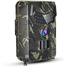 TKKOK Trail Camera With Night Vision Motion Activated,trail cam,game camera,wildlife camera 12MP 1080P Full HD Hunting Camera, 26 Pcs IR LED 120° Wide Angle,Camo Waterproof Infrared Game Cam 2.0
