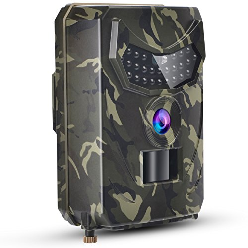 TKKOK Trail Camera With Night Vision Motion Activated,trail cam,game camera,wildlife camera 12MP 1080P Full HD Hunting Camera, 26 Pcs IR LED 120° Wide Angle,Camo Waterproof Infrared Game Cam 2.0 by TKKOK