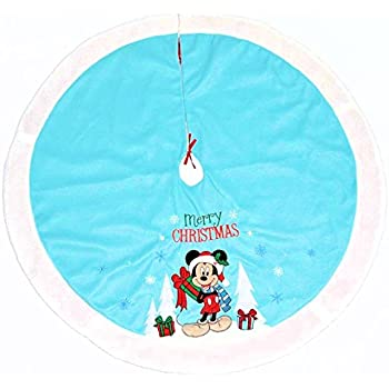 Disney Mickey Mouse Christmas Tree Skirt Baby Blue