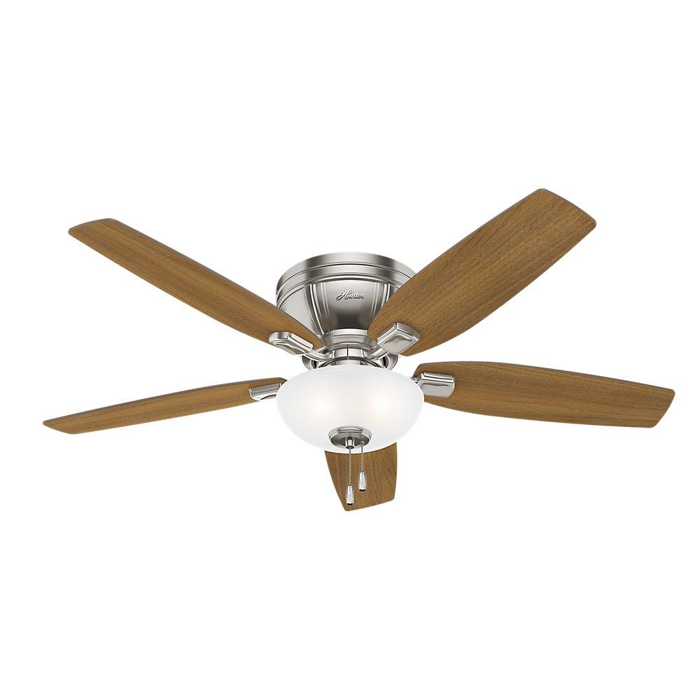 Hunter 53380 Kenbridge 52'' Ceiling Fan with Light, Large, Brushed Nickel