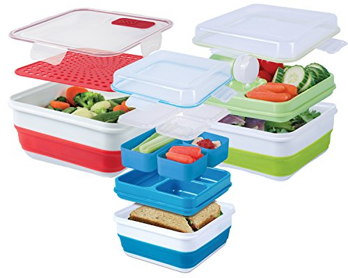 Cool Gear Ez-freeze Combo Pack Collapsible Food Storage Containers (Assorted Colors) - Cool Containers
