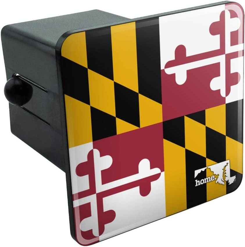 Graphics and More Maryland MD Home State Flag Officially Licensed Tow Trailer Hitch Cover Plug Insert 2""