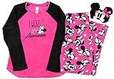 Disney Minnie Mouse Plush Pajama Sleep Set w/ Eyemask - Medium