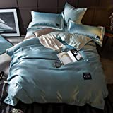 Sucastle Bedding activity printing and dyeing cotton washed silk solid color buttons cotton satin silk four sets Sucastle:size:220240