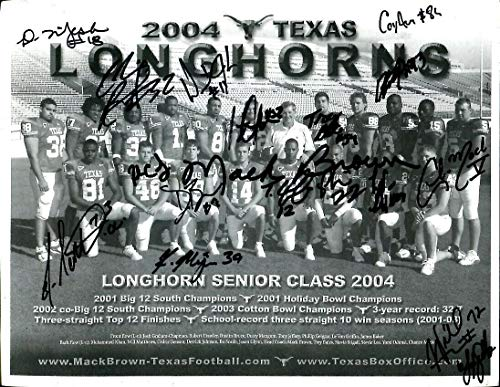 - 2004 Texas Longhorns Team Signed Photo 60 Autographs Mack Brown Vince Young