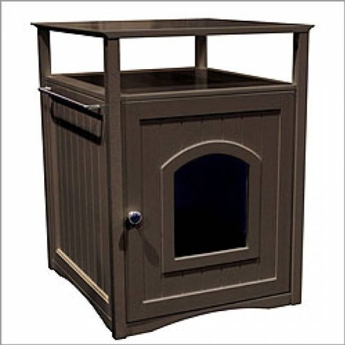 Kitty Espresso Comfort Room Hidden Litter Cat Box Furniture, Merry Products
