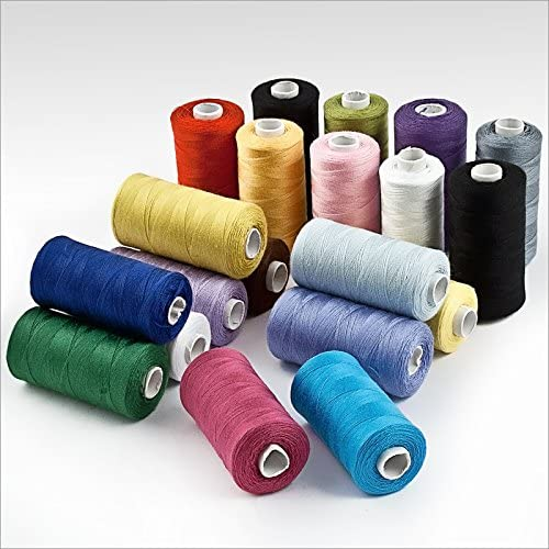 Hilos de coser poliéster, 20 piezas varios colores: Amazon.es