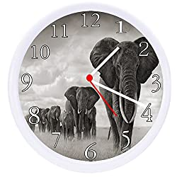Rusch Inc. Elephant Safari Wall Clock