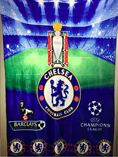 Chelsea FC Coral Fleece Blanket Queen Size Throw