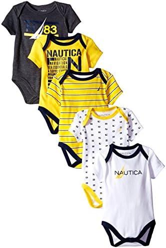 Nautica bebé Boys '5Pack Bodysuits