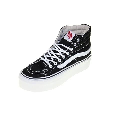 Vans U SK8 HI PLATFORM Scarpe Sneakers Nero Bianco Unisex