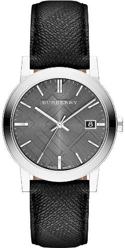 Burberry Grey Dial Black Polyvinl Mens Watch BU9030