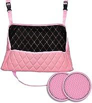 PU Leather Car handbag holder seat pocket net bag storage organizer-Gain Space Between Front & Back-Middle