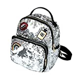 Aibearty Leather Backpack Small Sequin Daypacks