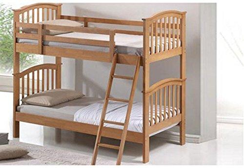 Inspiration Beds Artisan 3FT Single Oak Wooden Bunk Bed