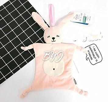 Sun Glower Baby Comforter Toys Toalla de algodón Toalla de Mano Suave Juguete de Peluche de Conejo Hecho a Mano 1 pc_Pink: Amazon.es: Juguetes y juegos