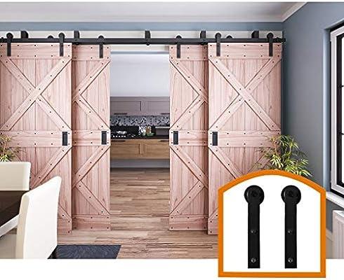 HomeDeco Hardware 10 FT, cuatro puertas correderas interior por ...