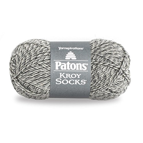 (Patons  Kroy Socks Yarn - (1) Super Fine Gauge  - 1.75 oz -  Grey Marl -   For Crochet, Knitting &)