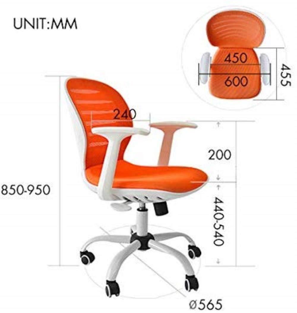 Kontorsstol stabil datorstol hem lärande stol lyft stol skrivbord lat personalstol hållbar (färg: vit) Vitt