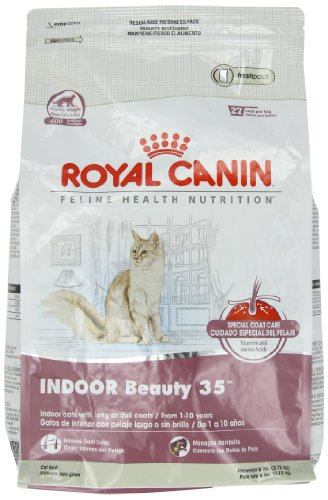 Royal Canin Formula Cat Food, Indoor Beauty and Fit Care 35, 6-Pound Bag, My Pet Supplies