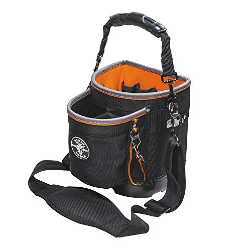 Tool Bag with Shoulder Strap Has 14 Pockets for Tool Storage, Can Fit Long Screwdrivers Klein Tools 55419SP-14