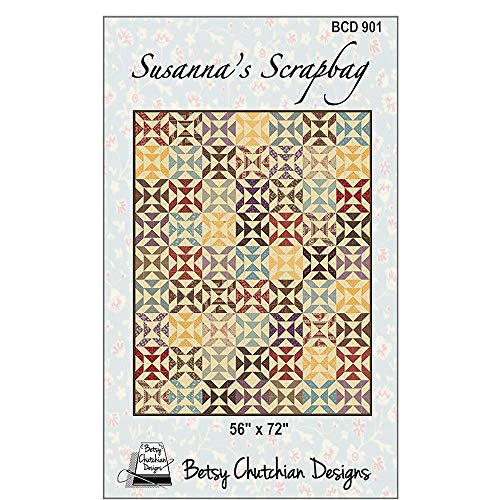 Scrapbag Pattern - Susanna's Scrapbag Quilt Pattern by Betsy Chutchian Designs