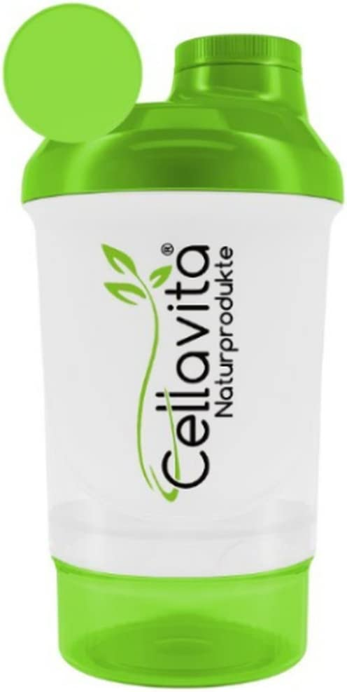 CELLA Vita proteína Coctelera eiweiss Suplemento nutricional Botella mezclador 300ml | tamaño perfecto