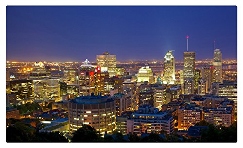 Canadá casas noche ciudades de Montreal muebles & decoración imán ...