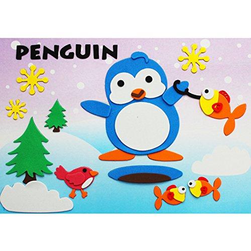 孩派eva貼畫兒童手工制作 兒童益智玩具diy幼兒園手工 動物貼紙 (11號