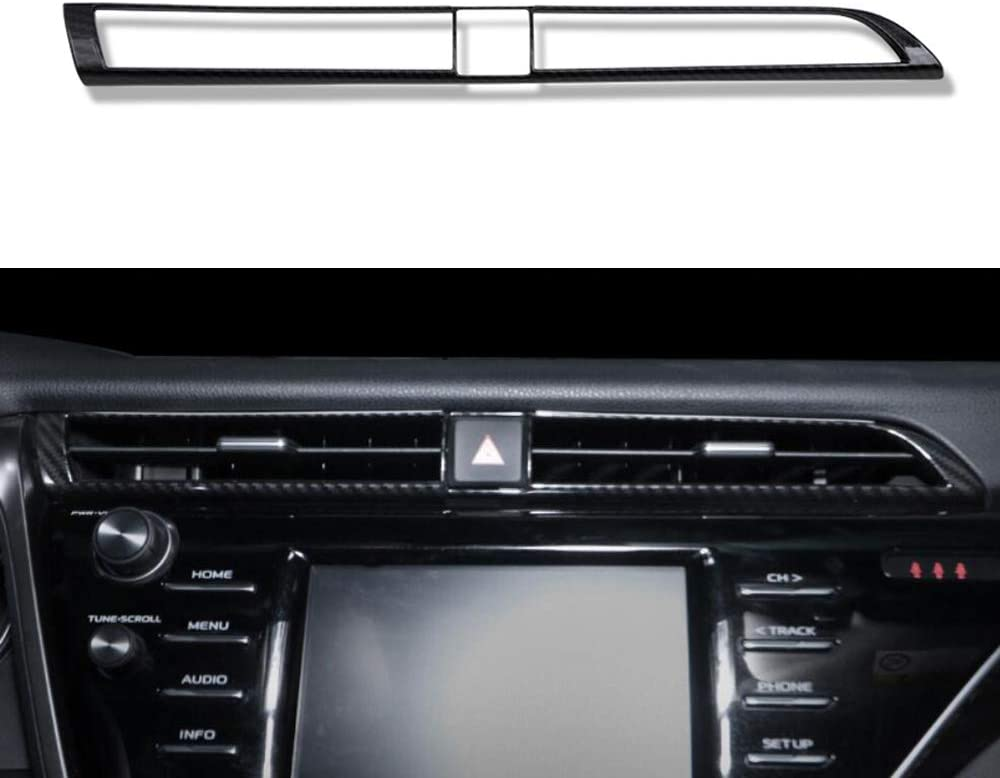 Kadore for 2018-2020 Toyota Camry Interior Front Door Window Pillar Cover Trim Matte 2-pc