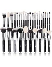 Make-up Borstels, BEILI Make-up Borstels Sets 30 stks Professionele Natuurlijke Geitenhaar Premium Synthetische Gezicht Borstel kabuki Foundation Mengen Markeerstift Concealers Oogschaduwen Make-up Borstel Kits