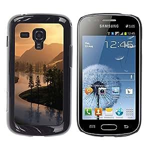 Exotic-Star ( Countryside views ) Fundas Cover Cubre Hard Case Cover para Samsung Galaxy S Duos / S7562
