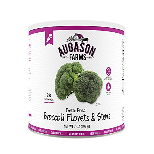 Augason Farms Freeze Dried Broccoli Florets & Stems 7 oz No. 10 Can by Augason Farms