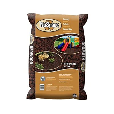International Mulch NS8RD Ground Cover, Rubber Nuggets, Redwood, 0.8-Cu. Ft.