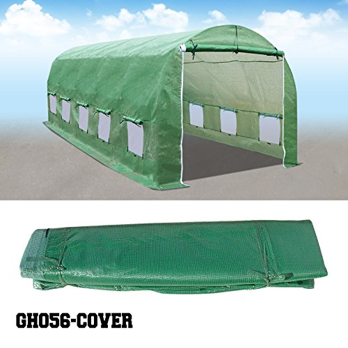 BenefitUSA Green House Replacement Spare Parts for 24.6'X10'X7'H Walk In Outdoor Plant Gardening Greenhouse (cover) by BenefitUSA
