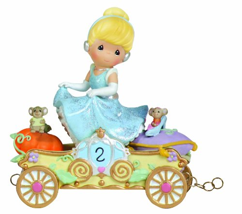 (Precious Moments, Disney Showcase Collection,  Bibbidi, Bobbidi, Boo - Now You're Two!, Disney Birthday Parade, Age 2, Resin Figurine, 104404)