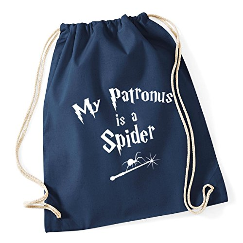 A Bag French Spider x School Gym Patronus Is HippoWarehouse Sack 12 37cm Navy Cotton Drawstring Kid litres 46cm My wIvTWt