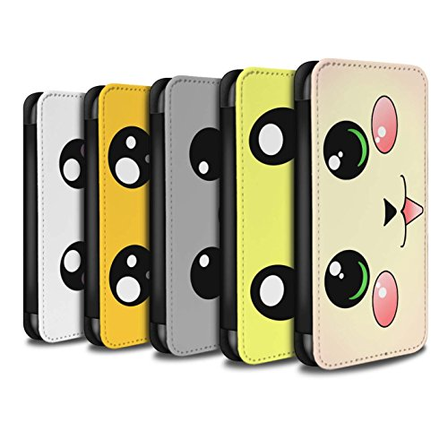 Stuff4 Coque/Etui/Housse Cuir PU Case/Cover pour Apple iPhone 7 Plus / Pack 5pcs Design / Kawaii Mignon Collection