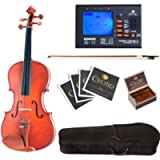 Cecilio CVA-400 Solid Wood Viola with Tuner, Case, Bow, Rosin, Bridge and Strings, Size 13-Inch