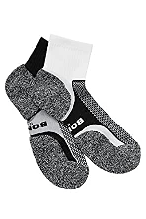 Bonds men Ultimate Comfort Quarter Crew Sock (2 Pack), Assorted 3, 6-10