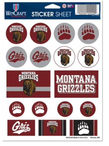 WinCraft NCAA University of Montana Vinyl Sticker Sheet, 5