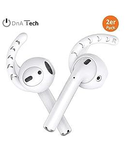 earplugs Juego de [2] by DNA Tech®   Accesorio para Airpods y EarPods–unersc hütterlicher sujeción oído Evita tambaleo y se salga.   de Silicona Suave Deporte y Ocio 2X EarPlugs Blanco